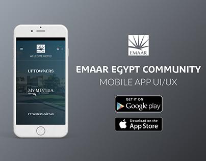 Emaar Egypt Community Mobile App UI /UX