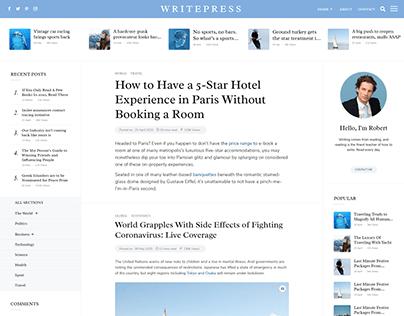 Writepress - Creative Blog HTML Template