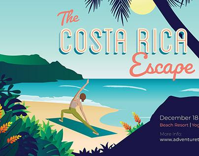 The Costa Rica Escape event promo materials.