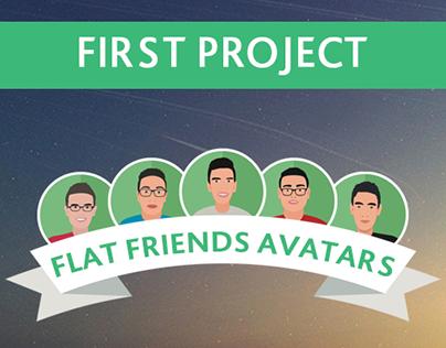 Flat Friends Avatars