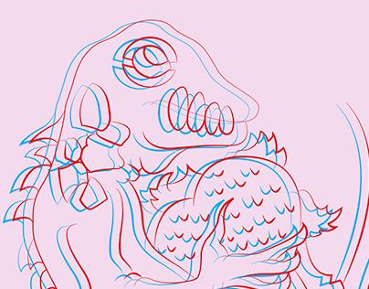 Anaglyph Chameleon