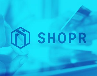 Logo for SHOPR.            Online Store.