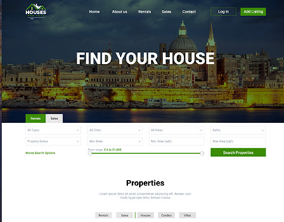Website for House Rent and Sale