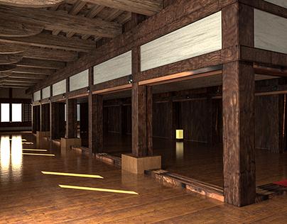 3D Environment - Himeji Castle Interior