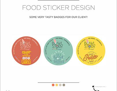 Food Sticker Design