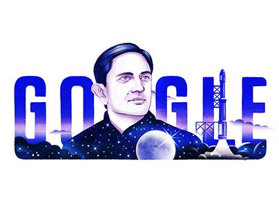 Google Doodle - Vikram Sarabhai's 100th Birthday