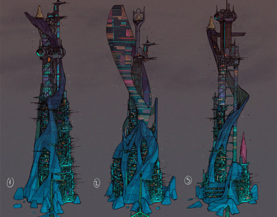 Indigo child - tower concept art