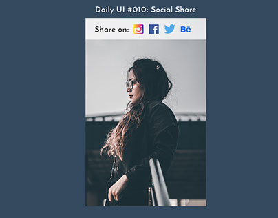Daily UI Challenge #010: Social Share
