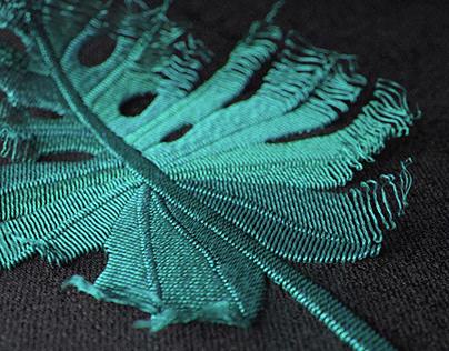 Monstera Deliciosa Embroidery