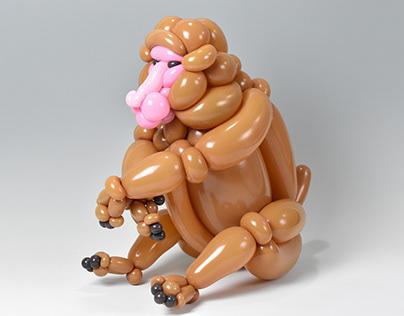 Snow monkey (balloon art)