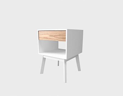 Aria white nightstand
