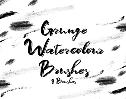 Grunge Watercolour Brushes (Photoshop)