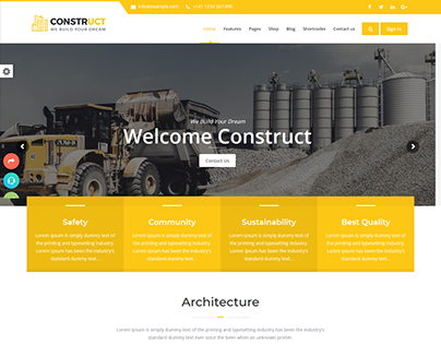 Construct : Construction, Building & Maintenance Websit
