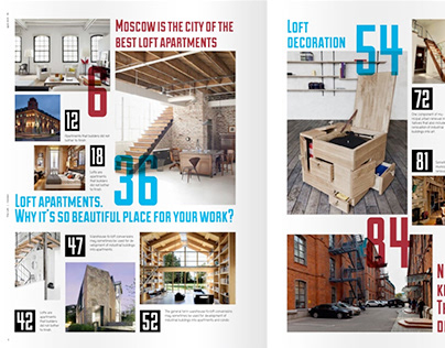 The Loft Magazine layout concept design
