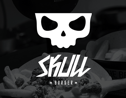 Skull Burger: Flyer e cardápio