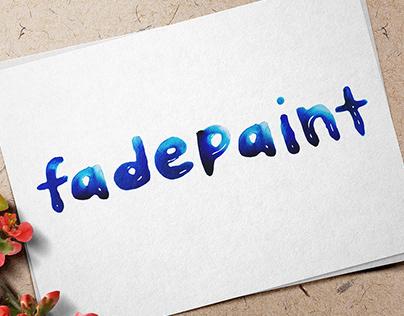 Fadepaint Typography
