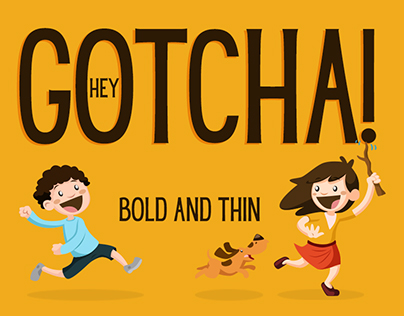 Hey Gotcha! Sans Serif font