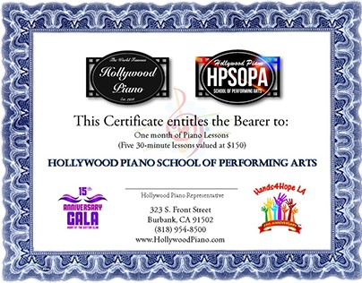 Miscellaneous Brochures - Hollywood Piano...
