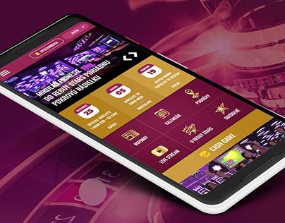 Mobile app for Casino Company Rebuy Stars