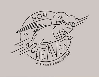 Hog & Brisket Shirt Illustrations