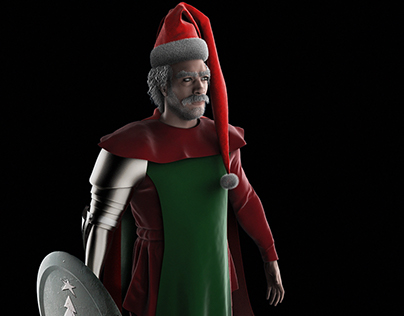 3D character- concepting Medieval Santa Claus
