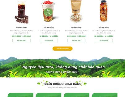 Dự án thiết kế website nước giải khát Mộc Trà