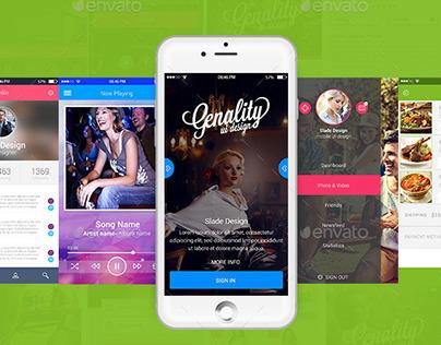 "New Ready ""Genality"" Mobile UI Kit"