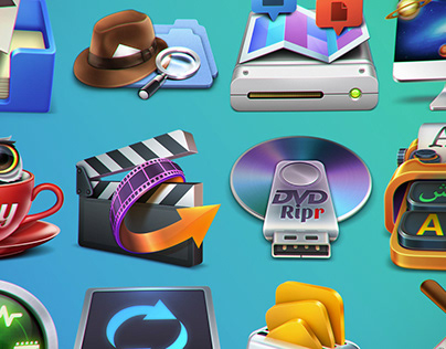Best of Mac OSX Icons Design by Weirdsgn