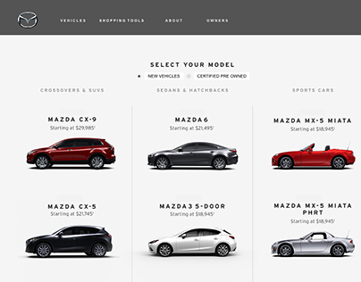 Mazda USA || Inventory Search || UX Wires