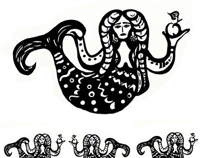 "Mermaids prints./ Принты ""Русалки"""