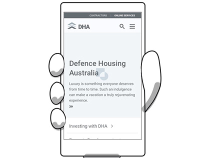 DHA Site Mobile Wireframes