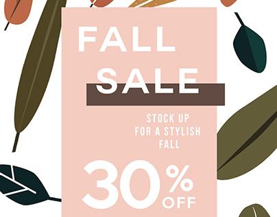 Fall sale layout