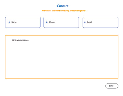 Website contact page