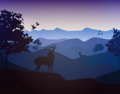 Landscape vector illustration_04