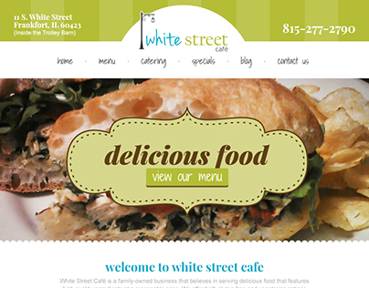 White Street Cafe Website Design & Development
