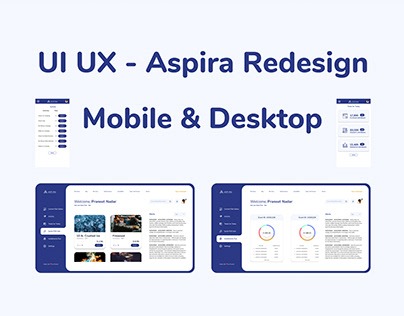 UI UX - Aspira Redesign - Mobile & Desktop