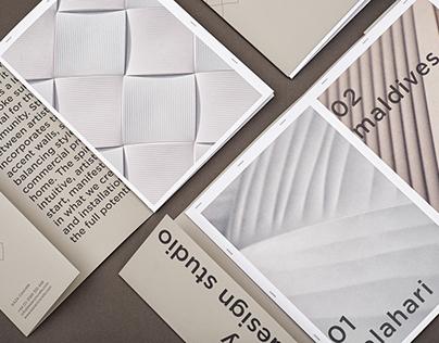 KAZA Concrete & NOTE Design Studio, Weave Brochure