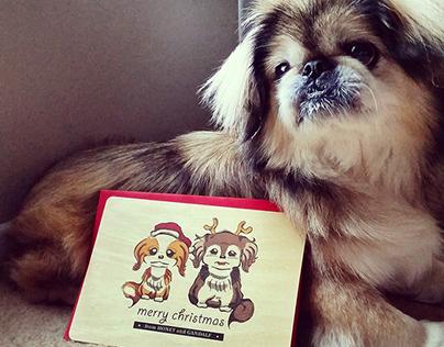 Honey & Gandalf Holiday Cards