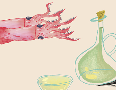 Recipe illustrations for AD Magazine