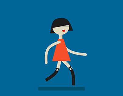 Character animation - walk cycle