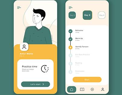 App UI Design for Stammering