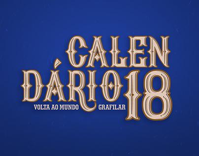 Calendário 2018 Grafilar