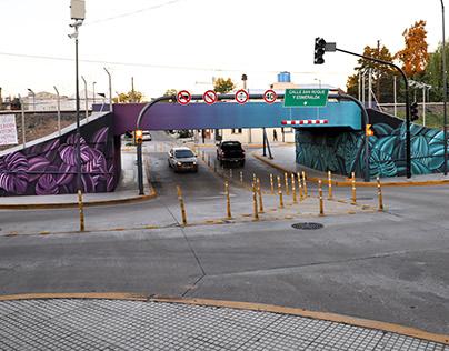 urban art tunnel intervention