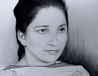 Smile- Pencil & Charcoal sketch by Artist Kamal Nishad