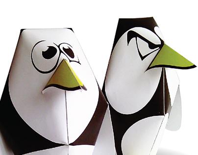 DIY paper toy PenGuy
