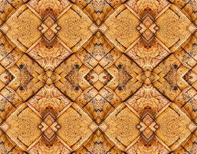 Seamless pattern based on weaving birch bark