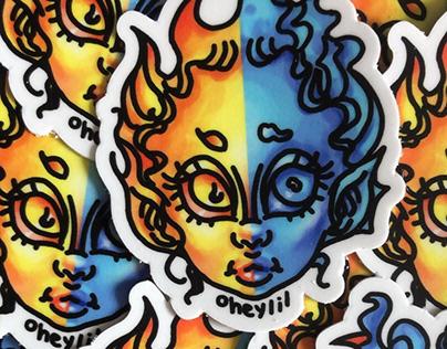 Oheylil Duality Sticker Design