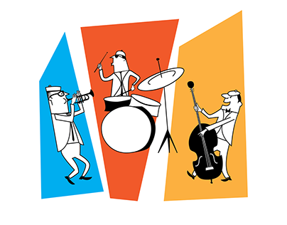 Midcentury Band Characters