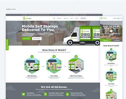 GREENBOX STORAGE - Website Design