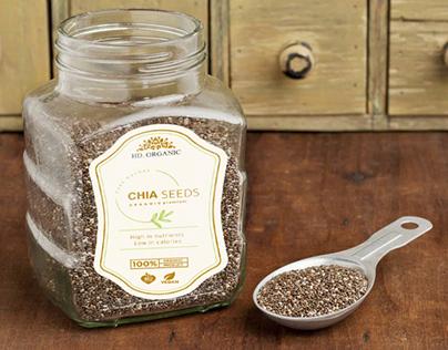 Chia Seeds Label Design